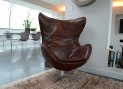 Nivaldo covered Egg chair