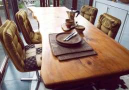 Cedar wood table