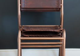 Nivaldo handstitched stacking chairs
