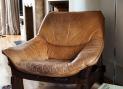 70's leather armchair