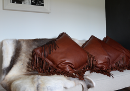 NdL leather cushion
