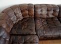leather sofa close