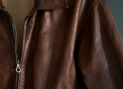 Vintage Ndl leather jkt detail